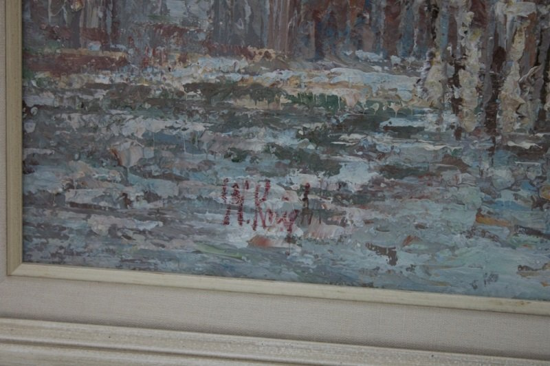 Impressionist Painting of Venice sg W. Knight - 8