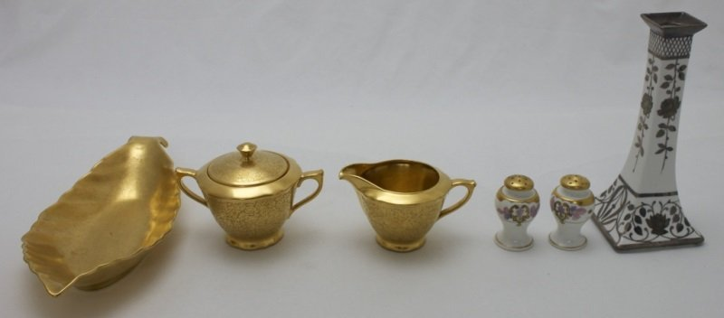 6 pcs China Picard Sterling Overlay & Gold Finish