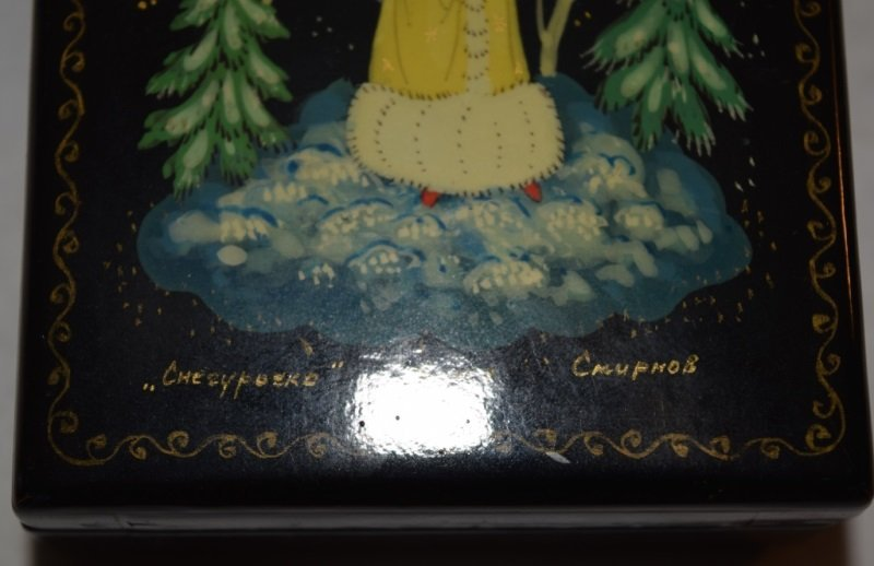 2 Soviet Era Hand Painted Russian Lacquer Boxes - 8