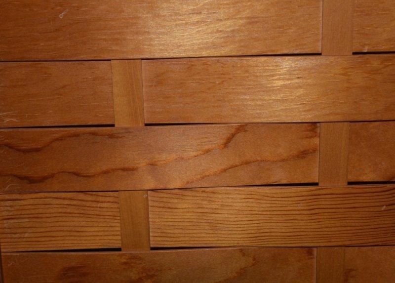 Mid-Century Modern Woven Wood Slat Room Divider - 6