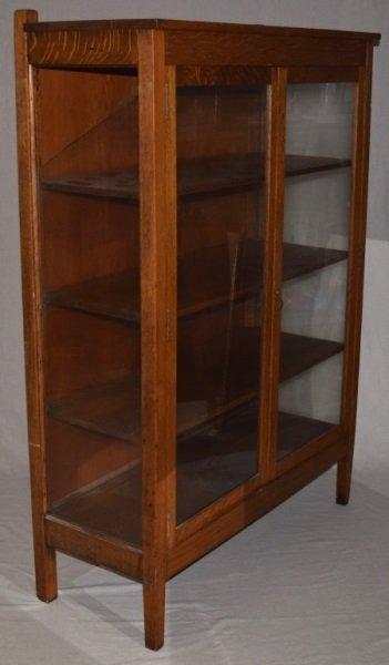 "Mission Oak ""Larkin"" Bookcase Display Cabinet - 5"