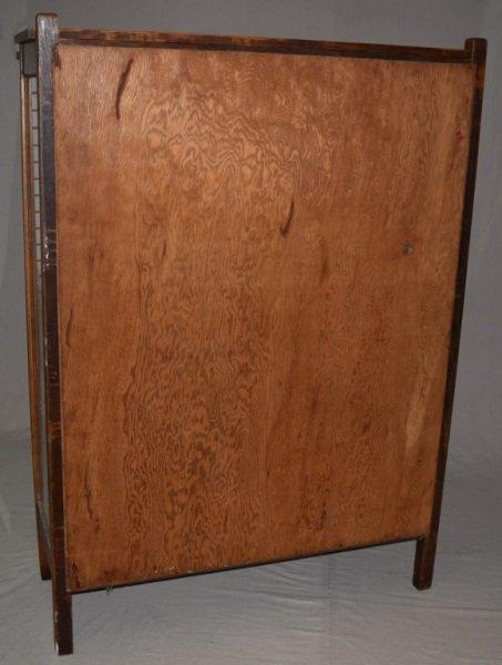 "Mission Oak ""Larkin"" Bookcase Display Cabinet - 8"