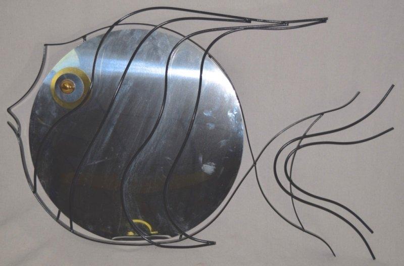 C Jere 1993 Mixed Metal Sculpture of a  Fish