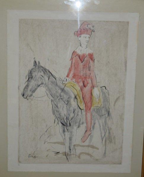 Pablo Picasso Lithograph Harlequin on Horseback - 2
