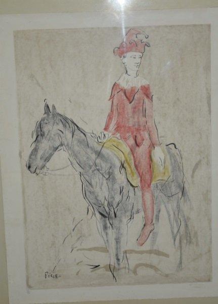 Pablo Picasso Lithograph Harlequin on Horseback - 3
