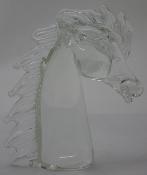 Licio Zanetti Murano Art Glass Horse Sculpture