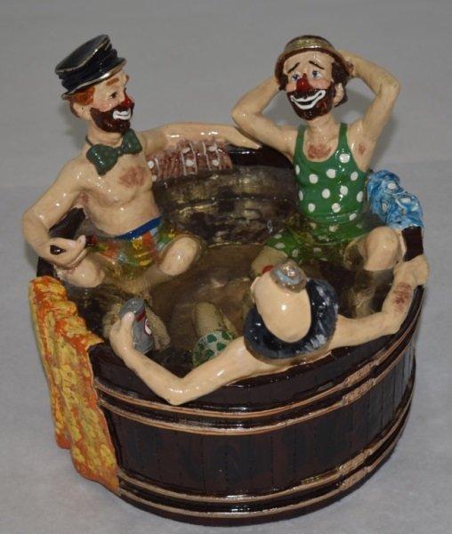 """Ron Lee """"Rub-A-Dub-Dub Three Men in a Tub"""" Statue"""