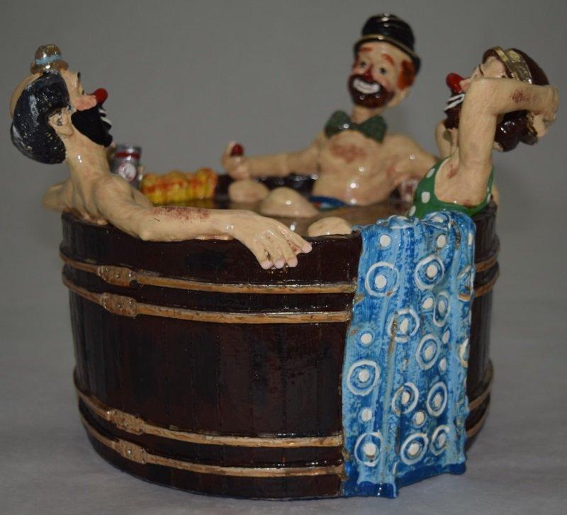 """Ron Lee """"Rub-A-Dub-Dub Three Men in a Tub"""" Statue - 2"""