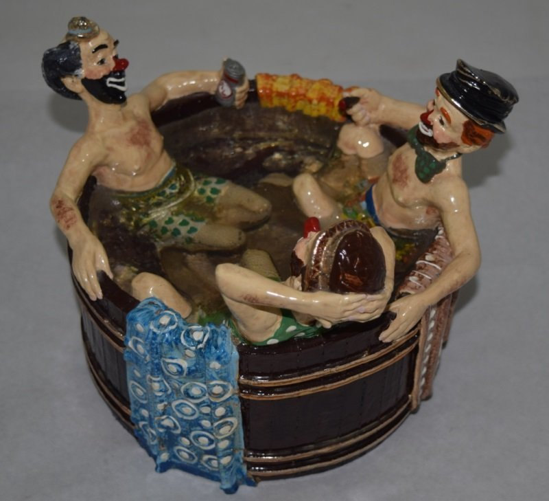 """Ron Lee """"Rub-A-Dub-Dub Three Men in a Tub"""" Statue - 4"""