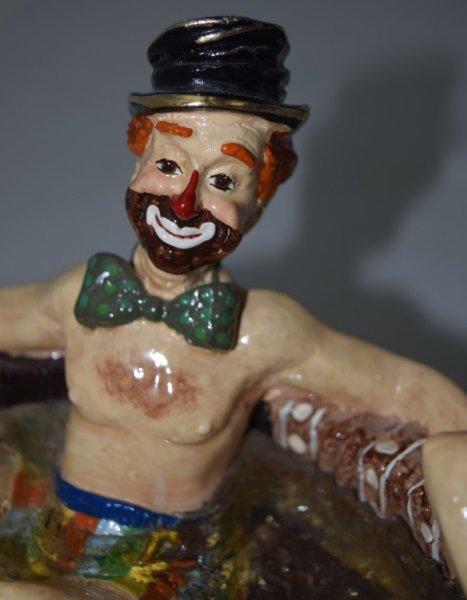 """Ron Lee """"Rub-A-Dub-Dub Three Men in a Tub"""" Statue - 6"""