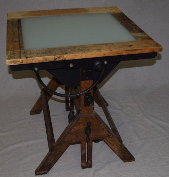 Hamilton Industrial Drafting Table W/ Light Box