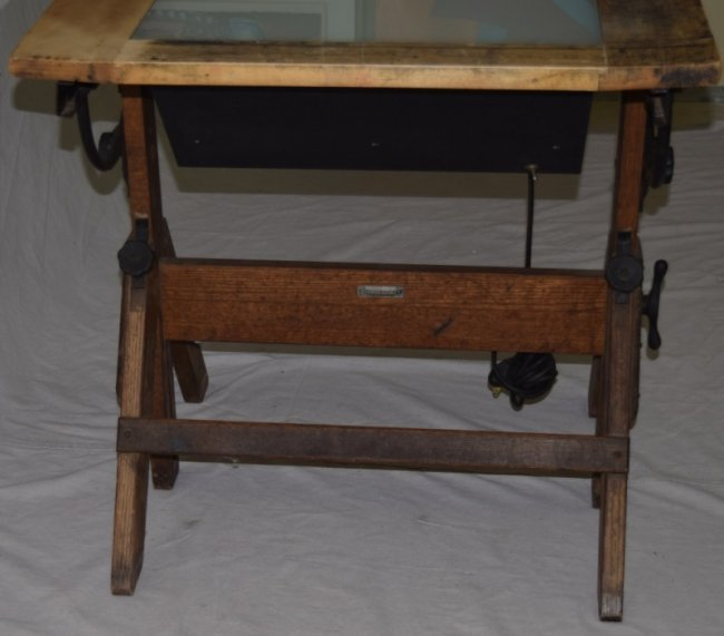 Drafting Table With Light Box Used