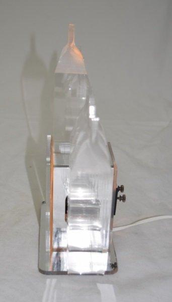 1970's Lucite & Glass Mirrored Electric Menorah - 4