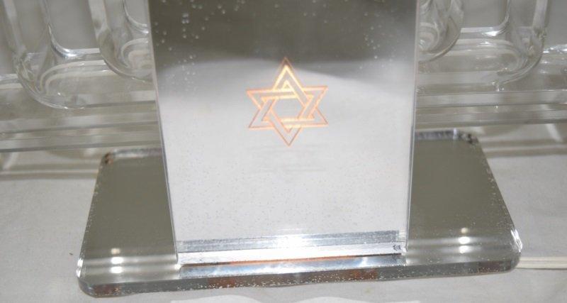 1970's Lucite & Glass Mirrored Electric Menorah - 7