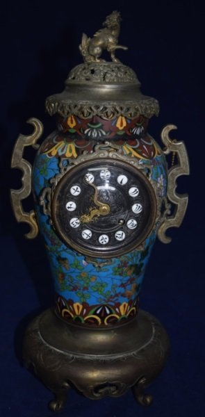 19C J.E. Caldwell & Co Chinese Cloisonne Clock