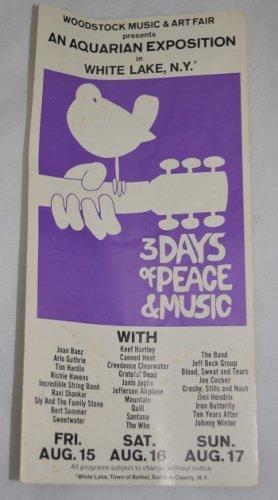 1969 Woodstock Ticket Brochure Order Form Radio City NY
