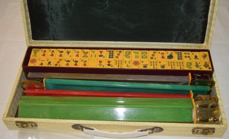 1920's Catlin Mahjong Set Complete in Case