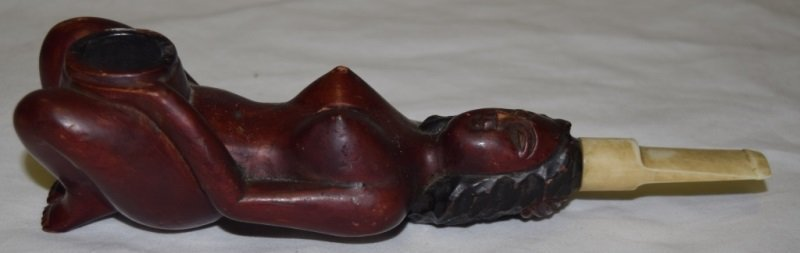 Nude Woman Hand Carved Smoking Pipe
