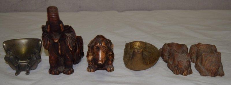 6 Figural Tobacco Pipe Holders