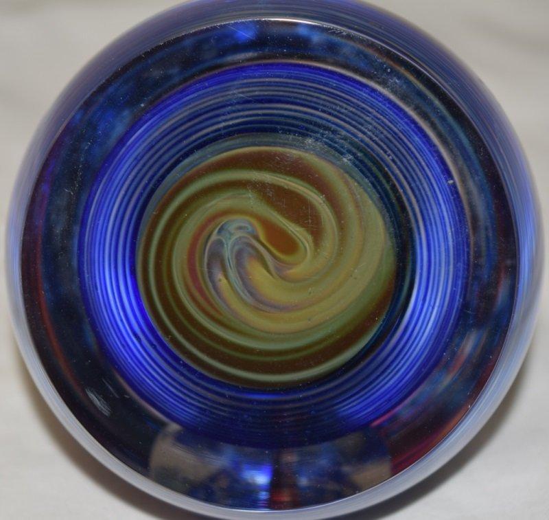 Hal David Berger Art Glass Paperweight Sculpture