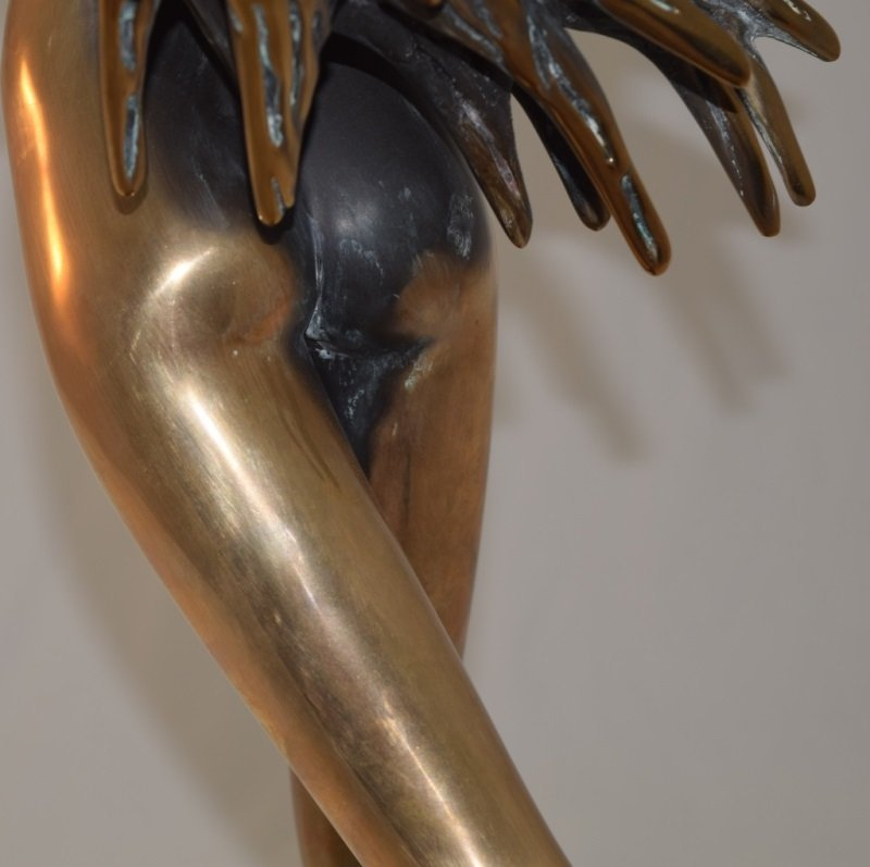 """Touch Down Girl"" Bronze Nude sg Tom Bennet 12/100 - 7"