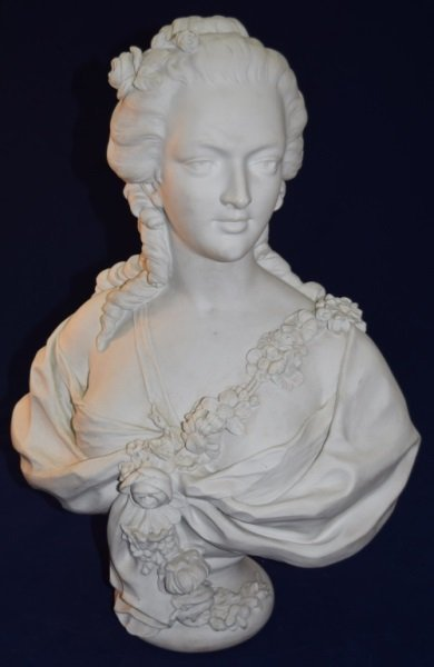 19C French Portrait Bust Princess de Lamballe