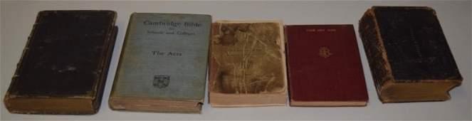Collection Of Antique Bibles  Religious Literatur