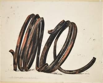 "Bernar Venet  ""Two Indeterminate Lines""  1996"