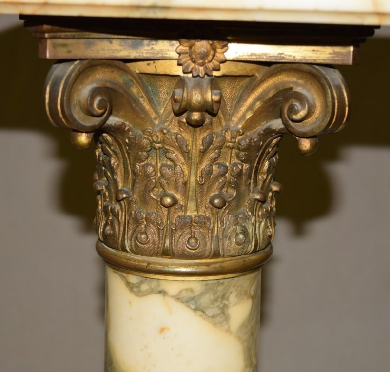 19C French Marble & Bronze Mounted Pedestal - 5