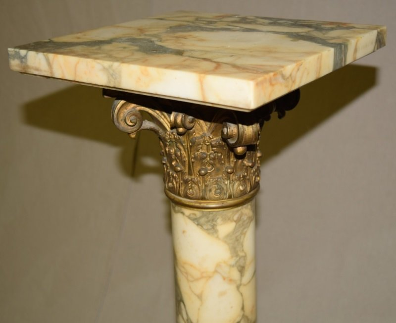 19C French Marble & Bronze Mounted Pedestal - 6