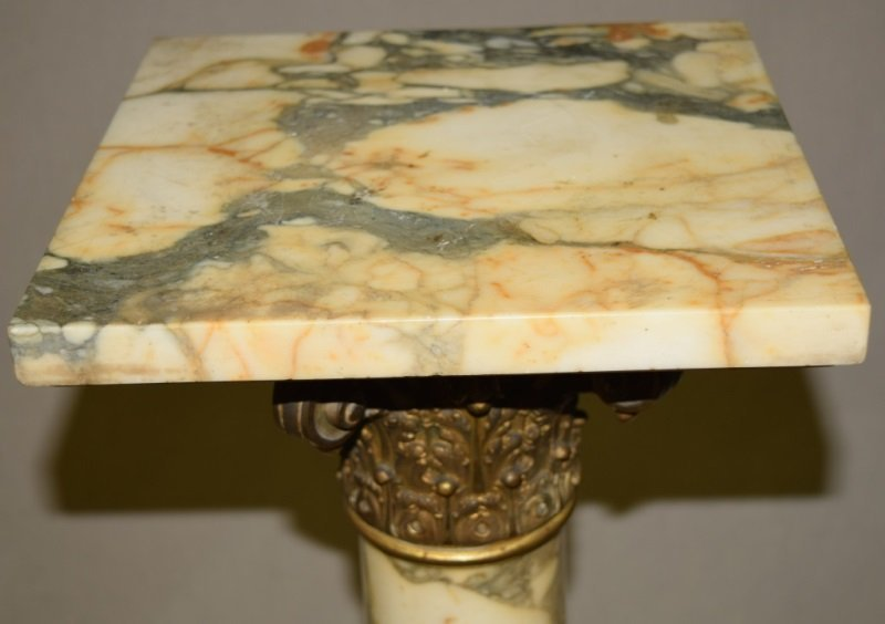 19C French Marble & Bronze Mounted Pedestal - 7