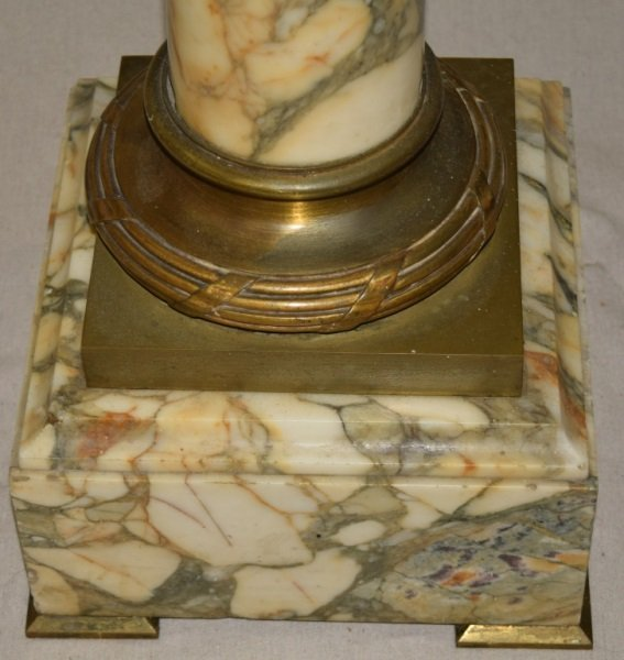 19C French Marble & Bronze Mounted Pedestal - 9