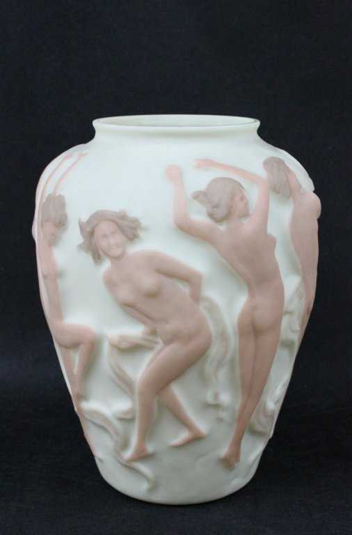 Phoenix Consolidated Glass Vase Dancing Nudes
