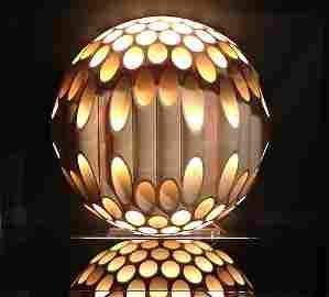 1970's Mid Century Mod Rougier Spherical Tube Lamp