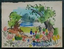 Jean Dufy French18881964 Watercolor on Paper