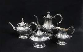 Reed  Barton Sterling Silver Tea Set Victorian