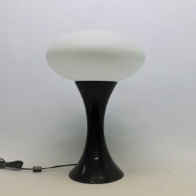 Vintage Black Laurel 'mushroom' Table Lamp
