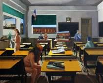 "George Deem (Amer.1932-2008) ""School of Hopper"""