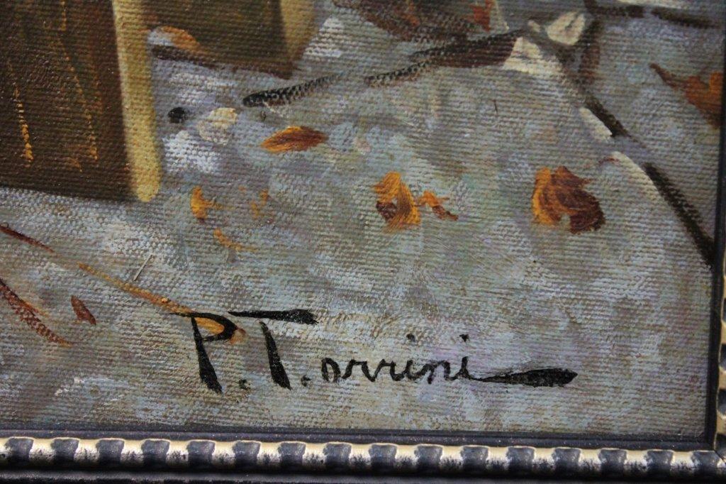 50s Rustico Italian School Painting Mother & Child - 3