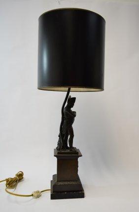 19c French Bronze Sculpture Napoleon Bonaparte Lamp