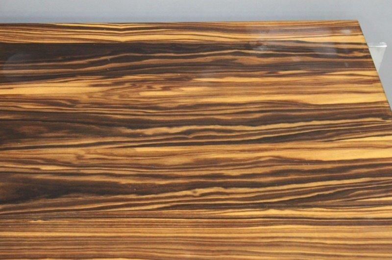 1980's Harvey Probber  Zebra Wood & Chrome Desk - 6