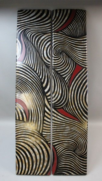 (2) MCM Karl Springer Lacquered Wood Screen Panels