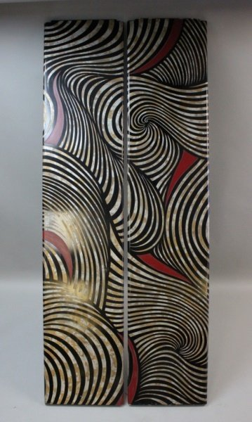 (2) MCM Karl Springer Lacquered Wood Screen Panels - 2