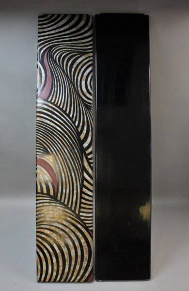 (2) MCM Karl Springer Lacquered Wood Screen Panels - 6