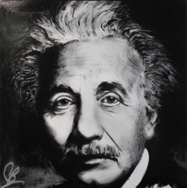 Breed (American b.1970-) Albert Einstein Acrylic