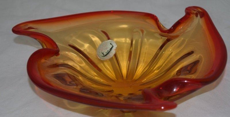1950's Murano Bowl w Label J.I. Co Italy