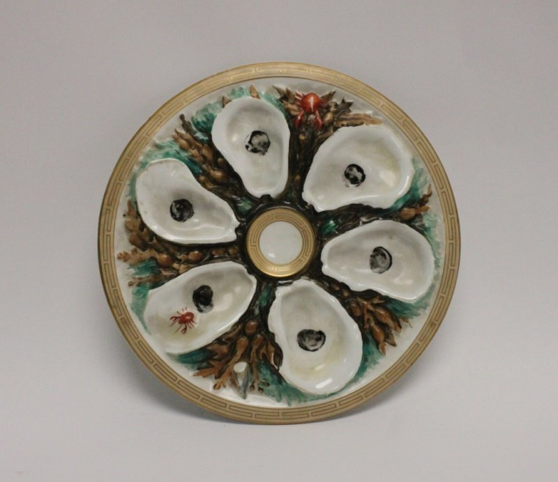 1879 Union Porcelain Works Oyster Plate