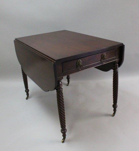 1920's Charleston, SC Mahogany Pembroke Table