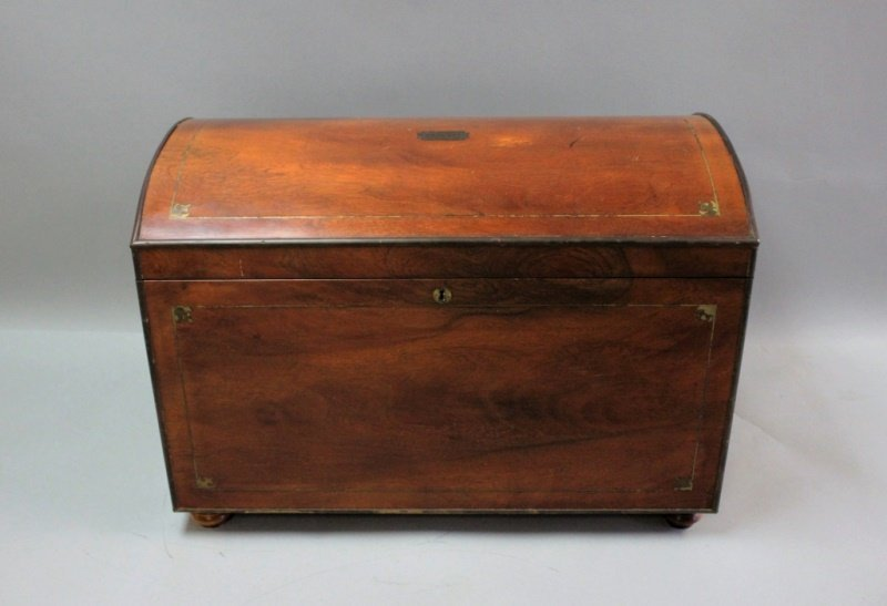 """Brass Inlay Trunk """"The Phoenix New Orleans 1807"""""""