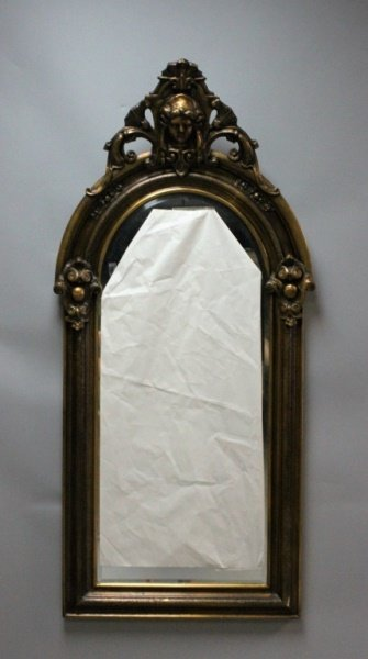 19CAmerican Gilt Wood Egyptian Revival Pier Mirror